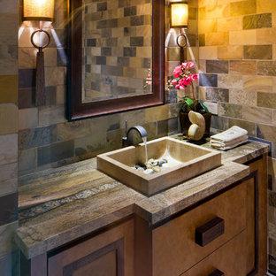 Elegant bathroom photo in Phoenix with a vessel sink