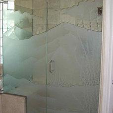 Mediterranean Bathroom by Sans Soucie Art Glass