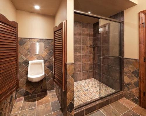 9 photos de salles de bain avec un carrelage de pierre et un urinoir - Salle De Bain Ardoise Et Pierre