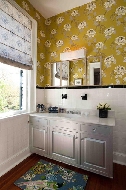 eclectic bathroom by Heather ODonovan Interior Design