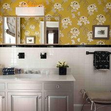Eclectic Bathroom by Heather ODonovan Interior Design