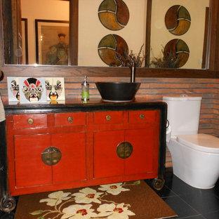Inredning av ett asiatiskt badrum