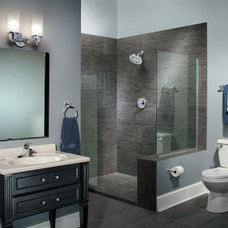 transitional bathroom by Showplace Design & Remodel