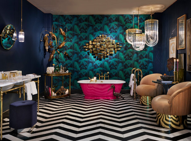 Eclectic Bathroom by Maurizio Pellizzoni Ltd