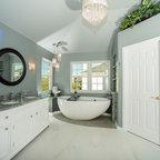 Spa Master Bathroom - Traditional - Bathroom - Raleigh - by Steiner Design Interiors