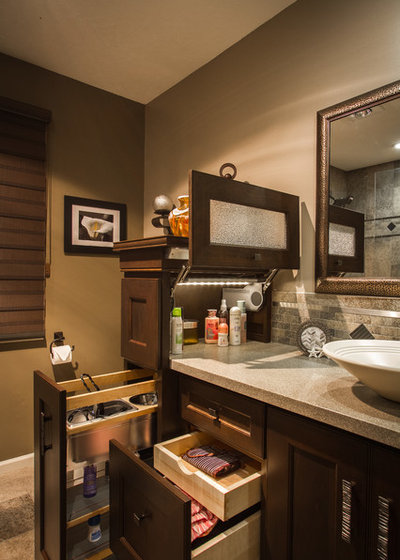 Transitional Bathroom by Task Lighting