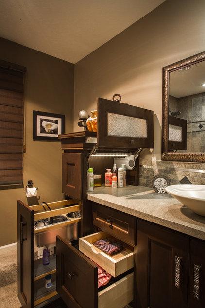 Transitional Bathroom by Task Lighting