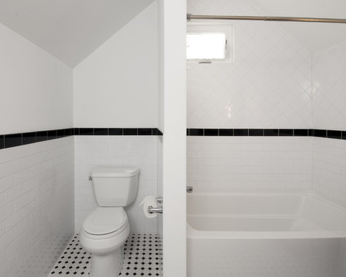 White 4x4 tile home design ideas pictures remodel and decor for Bathroom design 4x4