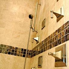 Tropical Bathroom by Designs by SKill, LLC.