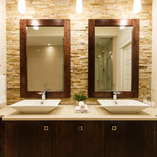 Transitional Bathroom by Pavan Sandhu-Anderson