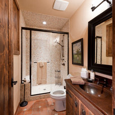 Rustic Bathroom by Djuna Design Studio