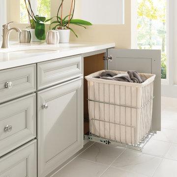 Diamond Cabinets: Bathroom Vanity Cabinet with Built-In Hamper