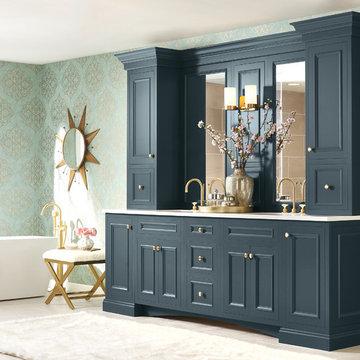 Diamond Cabinets: Blue Bathroom Vanity