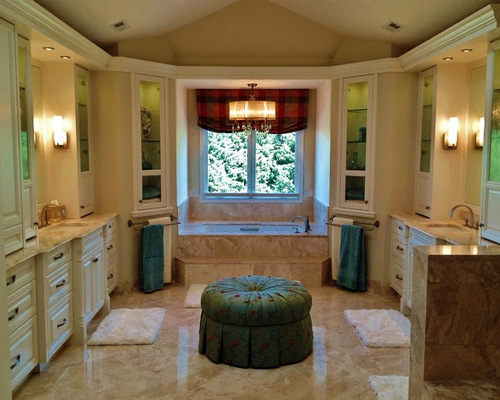 Diane reale marble houzz for Master bathroom ottoman
