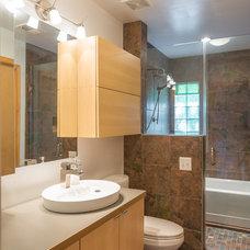 Contemporary Bathroom by Arlington Construction Management