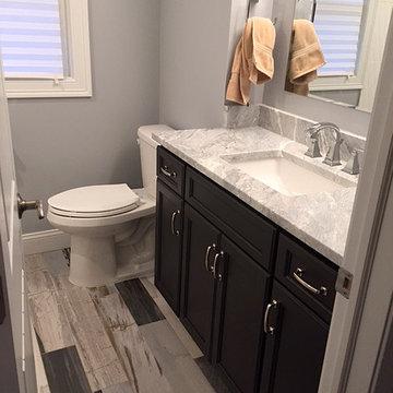 Direct Depot | Dark Stain Custom Bath Vanity