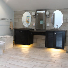 Transitional Bathroom by HT Home Design at The Showroom