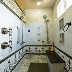 mediterranean bathroom by All Pro Builders Inc.