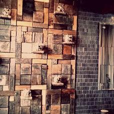 Eclectic Bathroom by Studio L. Glassworks