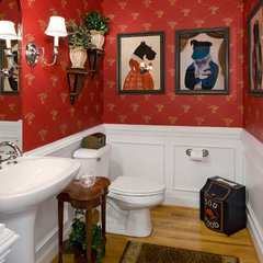 eclectic bathroom by Kathy Corbet Interiors