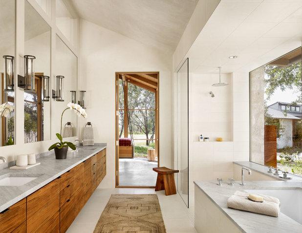 Farmhouse Bathroom by Furman + Keil Architects