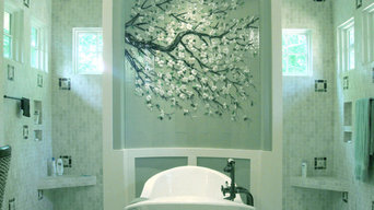 Dogwood Branch Mural in Master Bath