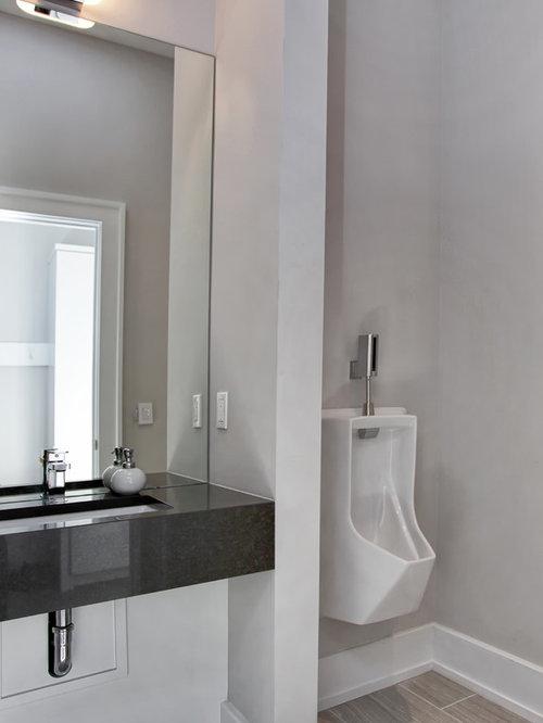 Bathroom Urinal large bathroom design ideas, remodels & photos with an urinal
