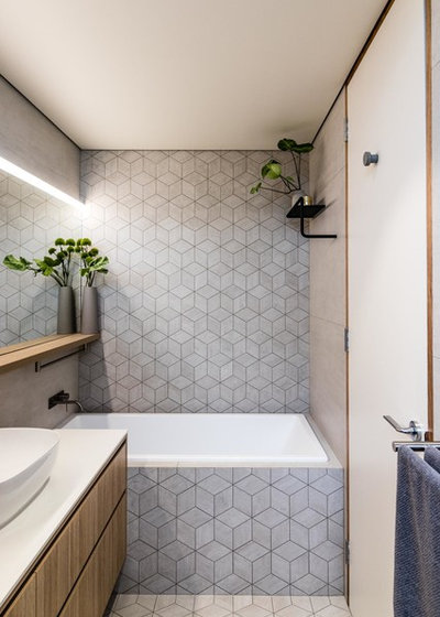 Modern Bathroom by JC Design Studio
