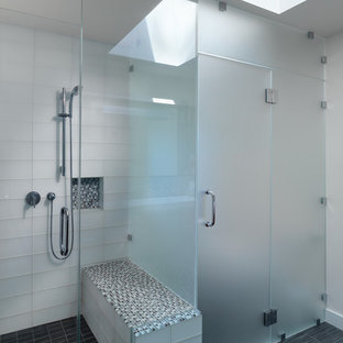 Example of a trendy glass tile bathroom design in San Francisco