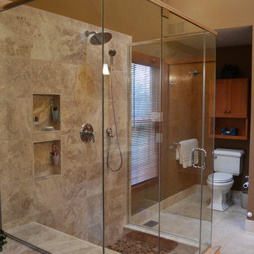 Donna and Rick's rustic bathroom