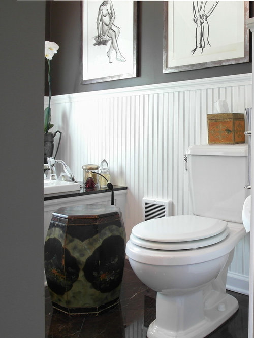 Wainscoting bathroom houzz for Wainscoting bathroom ideas