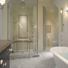 traditional bathroom by Michael A. Menn