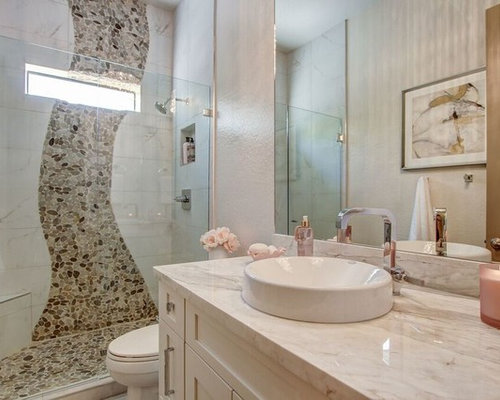 duschb der mit kieselfliesen ideen beispiele f r die. Black Bedroom Furniture Sets. Home Design Ideas