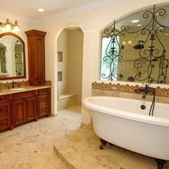 mediterranean bathroom by Brandi Smith