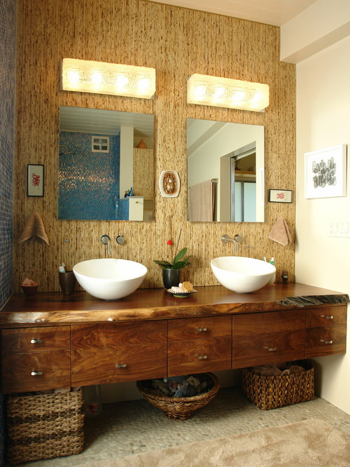 156 Tropical Los Angeles Bathroom Design Ideas Remodel Pictures Houzz