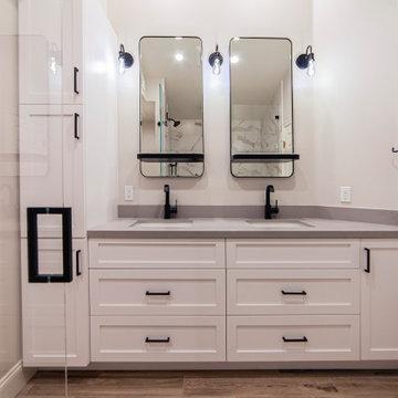 Double Vanity| Master Bathroom Remodel | Oak Park, CA