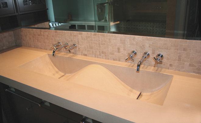 Eclectic Bathroom by Sculptural Design Cast Concrete