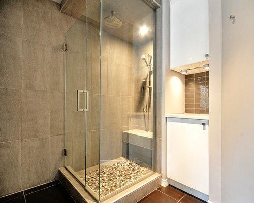 Salle de bains grise et blanche - Salle de bain blanche et grise ...