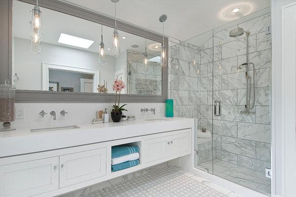 Transitional Bathroom by Chr DAUER Architects