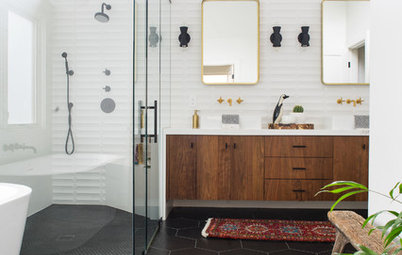 New This Week: 3 Bathrooms That Stylishly Mix Materials