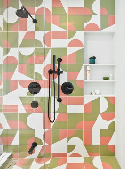 Scandinavian Bathroom by Wanda Ely Architect Inc.