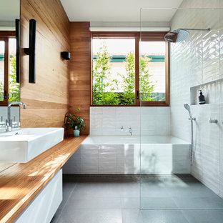 Contemporary bathroom in Melbourne.