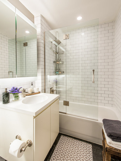 Freestanding Tub With Shower Ideas Houzz - Enclosed tub and shower combo