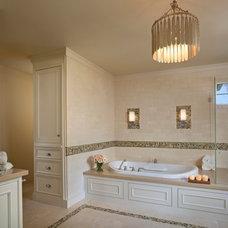 Farmhouse Bathroom by Andrea Bartholick Pace Interior Design