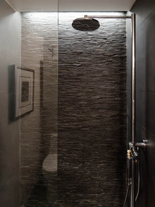 best stacked stone shower design ideas remodel pictures