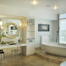 contemporary bathroom by Amelie de Gaulle Interiors