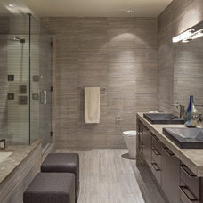 Contemporary Bathroom by Interiors Joan and Associates