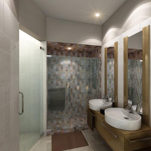 kolonialstil badezimmer mit wandwaschbecken design ideen. Black Bedroom Furniture Sets. Home Design Ideas
