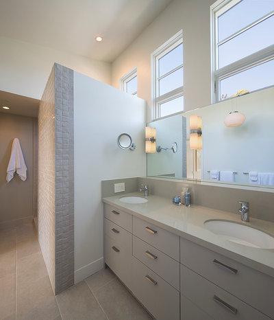 Transitional Bathroom by Amy A. Alper, Architect
