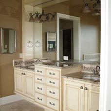 Traditional Bathroom by Jacki Hunlow Design